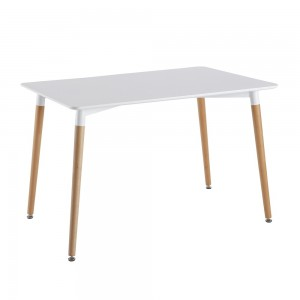 Table blanche rectangulaire