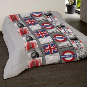 Ensemble de lit comprenant une housse et deux taies Made In London
