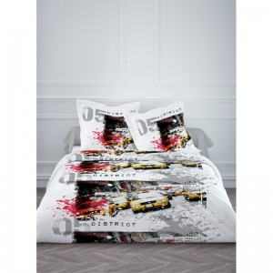Housse couette NY Splash 220x240cm + 2 taies