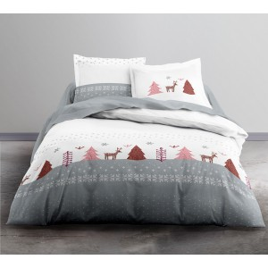 Housse de couette 220x240 TODAY ROSIE + 2 taies 100% coton flanelle