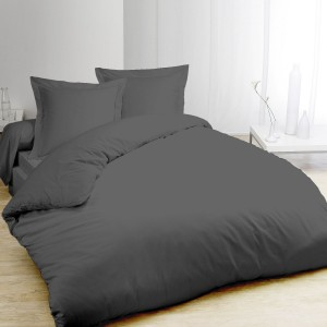 Housse de couette anthracite 220x240 + taies