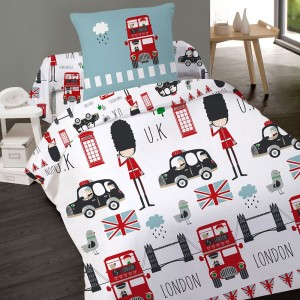 Housse de couette 140x200cm LONDON KIDS