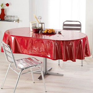 Protège nappe transparent oval