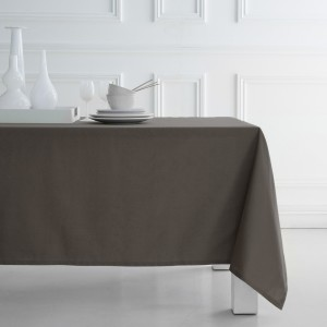 Nappe de table en coton couleur sable