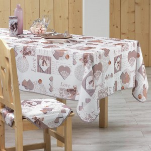 Nappe de table 150x240cm Cosy Home toucher soft