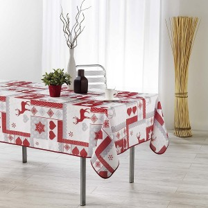 Nappe de table 150x240cm WINTER LOVE toucher soft