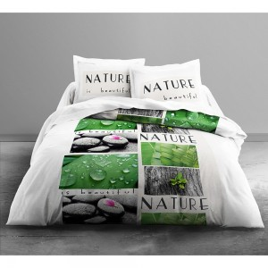 Housse de couette Only Nature 220x240 + 2 taies