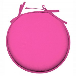 Galette de chaise Ronde 100% polyester Nelson Fuchsia