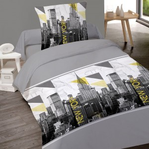 Housse couette 140X200 + 1 taie NY CAPITAL