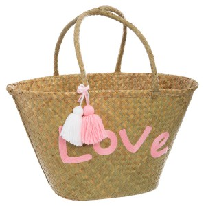Panier de shopping osier Dream rose