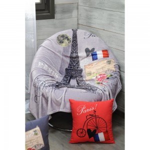 Plaid 130 x 160 cm Metropole Paris romantique