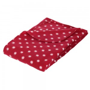 Plaid polaire 125 x 150 cm Pois Rouge
