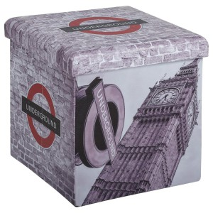 Pouf pliant London Wall Big Ben