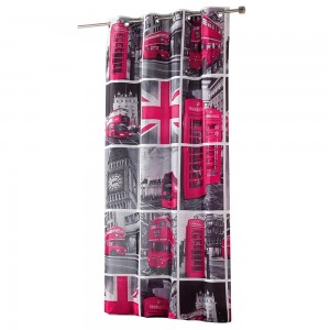 Rideau London Tour rose 140x260cm