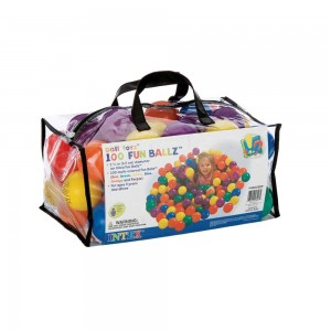 Lot de 100 balles multicolores