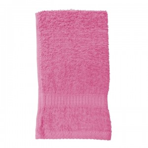 Serviette de toilette rose