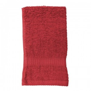 Serviette de toilette rouge
