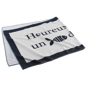 Serviette de plage 70x150cm Fish naturel