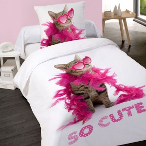 Housse de couette 140x200cm SO CUTE