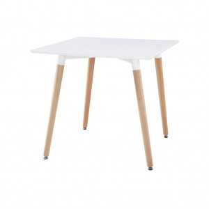 Table carrée scandinave blanche