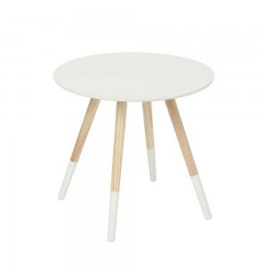 Table basse MILEO blanc Ø48cm