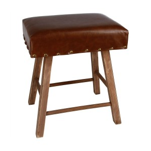 Tabouret vintage time marron
