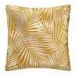 Coussin velours or Tropic 40x40 cm ocre
