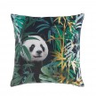 Coussin velours 45x45 Or Pandaline