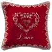 Coussin home love rouge