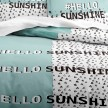 Housse de couette 220x240 Enjoy Hello Sunshine + 2 taies