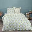 Housse de couette 240x260 Wax flower multi + 2 taies 100% coton 57 fils