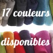 Linge de toilette disponible en 17 couleurs unies