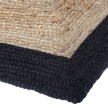 Tapis rectangle en jute 120x170 cm noir détail