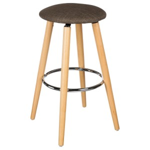 Lot de 2 tabourets de bar Naor taupe