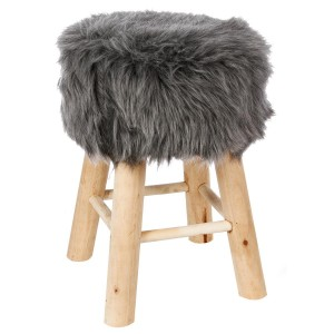 Tabouret gris instinct naturel
