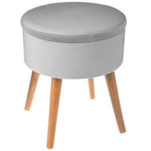 Tabouret coffre TESS gris ice