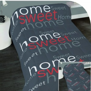 Couette 140x200cm Sweet Home Rouge