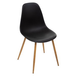 Chaise scandinave Taho noir