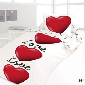 Housse de couette 140x200 LOVE IS IN THE AIR + 1 taie
