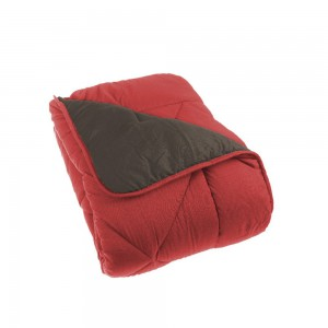 Couette unie double face 140x200 cm rouge marron