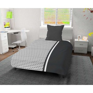 Couette 140x200 DAMIER anthracite