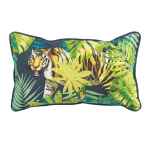 Coussin passepoil 30x50 Tiger