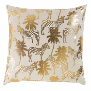 Coussin 45x45 Or Zambie coton