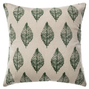 Coussin Chambray Jungle 40x40 cm