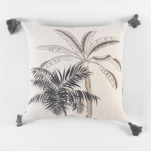 Coussin pompons 40x40 Cocoty
