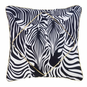 Coussin passepoil 45x45 cm Or Zebrilla