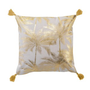 Coussin pompons 40x40 cm Palmy Shine or
