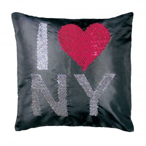 Coussin 40x40cm sequins NY Strass