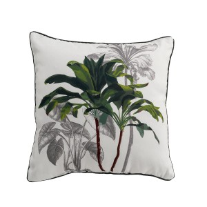 Coussin passepoil 40x40 Tropi Palmy