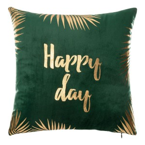 Coussin velours 40x40 cm Green Edition Happy day